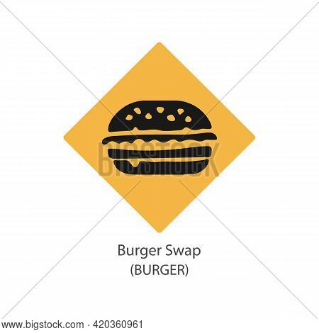 Burger Swap Decentralized Blockchain Internet-of-things Payments Cryptocurrency Vector Logo