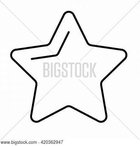 Five Pointed Star - Modern Thin Line Icon. Simple Black Outline Vector Illustration.