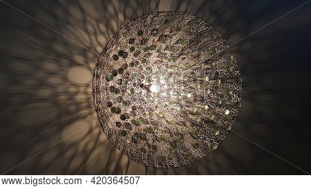 Abstract Sepia Glow Of A Light Fixture