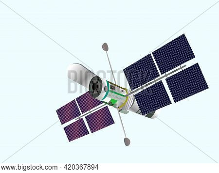 Physics. Space Telescope. Fiber Optic Cable. Interaction Of Light With Matter By Fiber Optic Cable