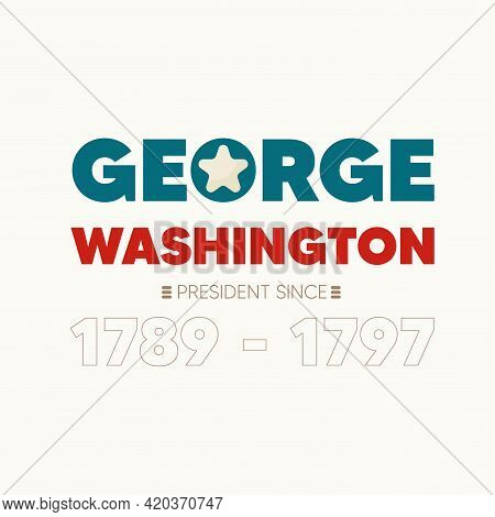 Isolated George Washington Presidents Day American Presidents Usa Icon- Vector