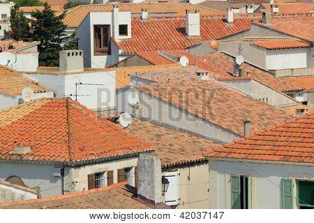 Roofs At Saintes-Maries-de-la-Mer, Camargue, France