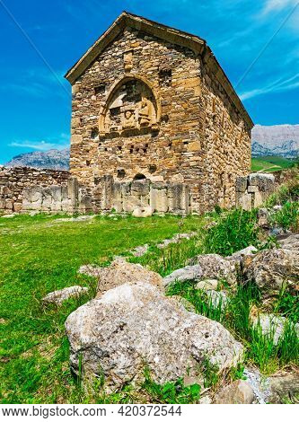 Tkhaba-Yerdy is one of oldest Christian churches in Russia. VIII - XIV century.Republic of Ingushetia.