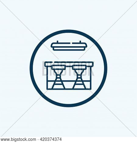 Restaurant Counter Icon. Outline Restaurant Counter Vector Icon For Web Design Isolated On White Bac