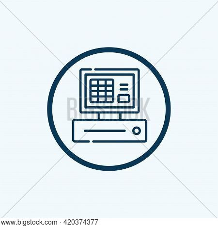 Cash Register Icon Isolated On White Background From Shopping And Ecomerce Collection. Cash Register