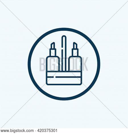 Olive Oil Bottle Icon. Outline Illustration Of Olive Oil Bottle Icon For Web Design Isolated On Whit