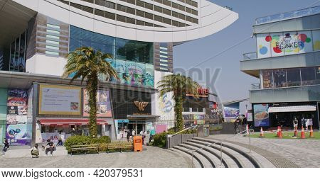 Victoria Peak, Hong Kong 05 February 2021: The peak shopping mall