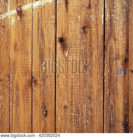 Brown Barn Wood Wall Background. Old Dirty Fence Surface Pattern. Outside Wooden Board Material Back
