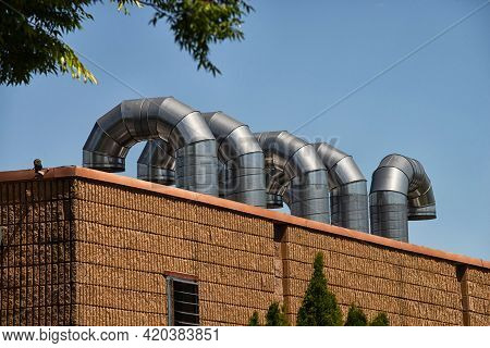 Roof Ventilation Pipes Metal Steel Air Cold