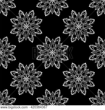 Mandala. Ethnic Decorative Elements. The Vector Pattern Is Seamless From A Geometrically Arranged Ma
