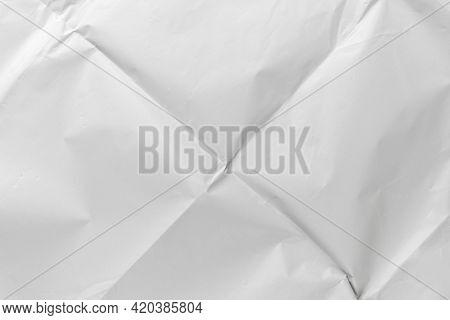 Crumpled Wrinkled Folded White Paper