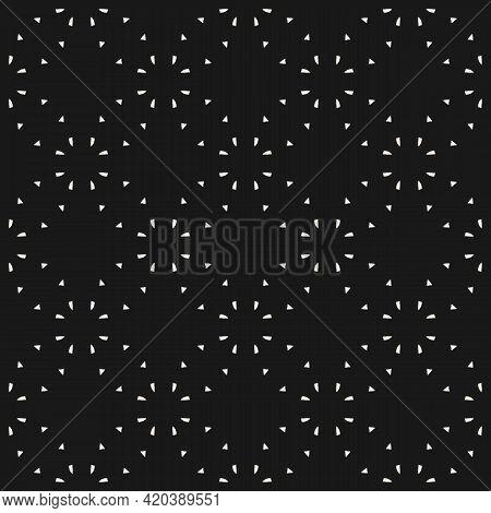 Minimalist Vector Seamless Pattern. Simple Delicate Geometric Texture. Abstract Black Minimal Backgr