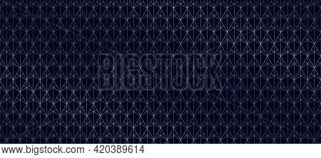 Silver Lines Pattern. Vector Geometric Seamless Texture With Subtle Grid, Thin Lines, Triangles, Dia