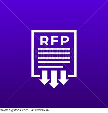 Rfp, Send Request For Proposal Vector Icon