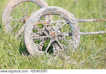 Undercarriage Form A Pram, Pulled Out Of A Canal