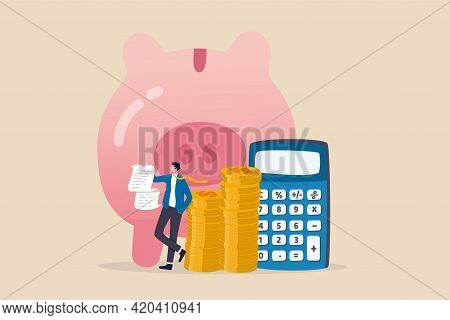 Budget, Expense And Cost Calculation, Investment Advisor Or Financial Planning Concept, Smart Busine