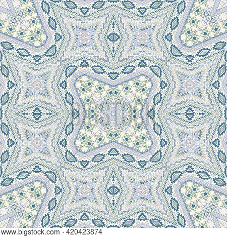 Aztec Endless Pattern Graphic Design. Traditional Geometric Background. Carpet Print In Ethnic Style