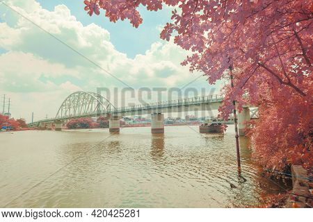 Landscape Photo Infrared: Binh Loi Bridge (viet Nam
