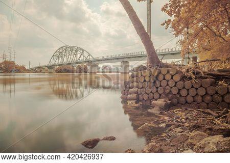 Landscape Photo Infrared: Binh Loi Bridge (viet Nam)