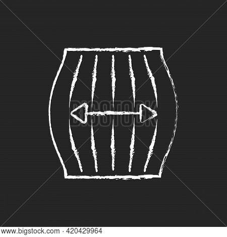 Stretch Fabric Property Chalk White Icon On Black Background. Stretchable Synthetic And Knitted Fibe