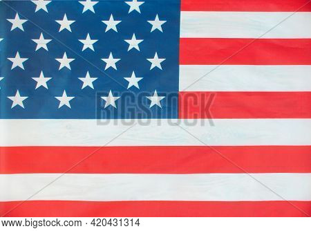 American Flag 4th Of July Independence Day Usa Flag For Memorial Day. Memorial Day Concept. Federal