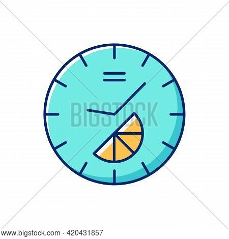 Branded Clock Rgb Color Icon. Modern Designed House Decor. Make Home Looking Stylish And Modern. Des