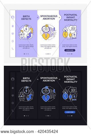 Genetic Defects Results Onboarding Vector Template. Responsive Mobile Website With Icons. Web Page W