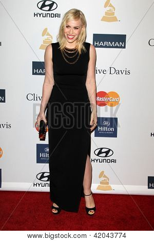 LOS ANGELES - FEB 9:  Natasha Bedingfield arrives at the Clive Davis 2013 Pre-GRAMMY Gala at the Beverly Hilton Hotel on February 9, 2013 in Beverly Hills, CA