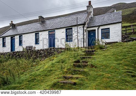 The Miners Cottage At Wanlockhead, The Highest Village In Scotland And A Historic Mining Town For Le