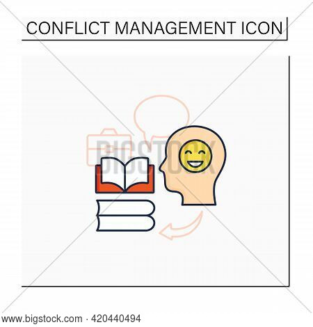 Teaching Positive Behaviors Color Icon.managing Emotions.conflict Management Concept. Isolated Vecto