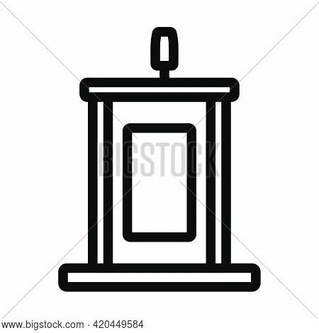 Witness Stand Icon. Editable Bold Outline Design. Vector Illustration.