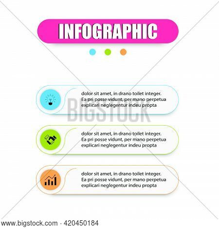 Planning Design Presents Infographics With 3 Options. Infographic Outline 3 Steps Modern Colorful Me