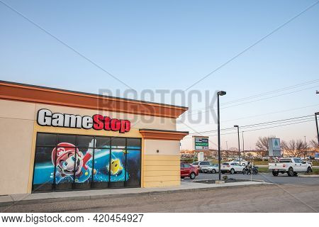 Nampa, Idaho - March 30 2021: Gamestop Storefront During One Of Their Big Stock Market Rally
