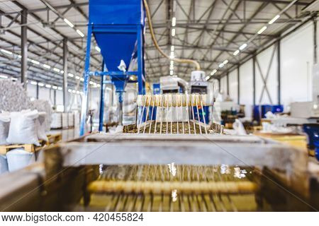 The Technical Process For The Production Of Polypropylene Yarns For Further Use At The Factory.