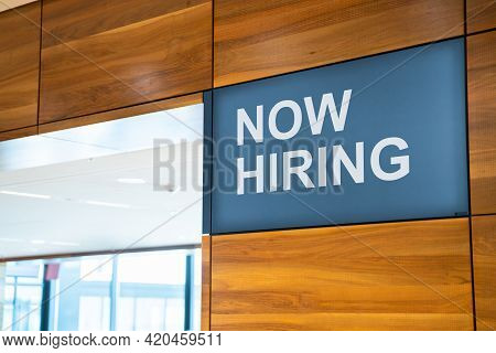 Now Hiring Open Business Job Sign Board