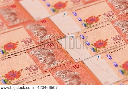 Malaysian Ringgit Banknotes Background. Malaysian Currency. Myr. Finance, Business Background. Perfe