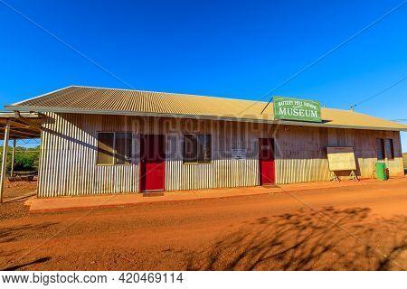 Tennant Creek, Australia - Aug 2019: Battery Hill Gold Mine Museum Of Tennant Creek. Northern Territ