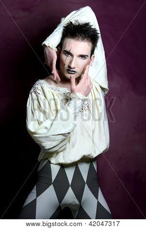 The Sad Clown Pierrot