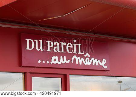Bordeaux , Aquitaine France - 05 08 2021 : Du Pareil Au Meme Sign Brand And Text Logo Dpam Of Store