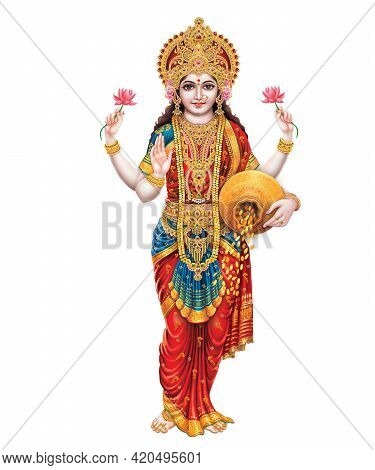 Hindu Cosmos Maha Laxshmi, Goddess Of Wealth