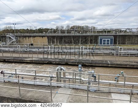 At A Wastewater Treatment Plan In Usa