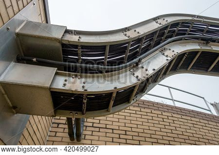 Cable Tray With Electrical Wiring Arrangement At Industrial Plant