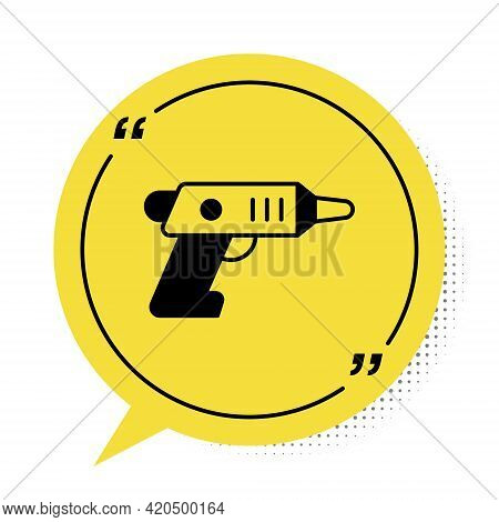 Black Electric Cordless Screwdriver Icon Isolated On White Background. Electric Drill Machine. Repai