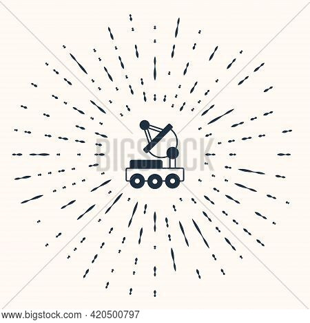 Grey Mars Rover Icon Isolated On Beige Background. Space Rover. Moonwalker Sign. Apparatus For Study