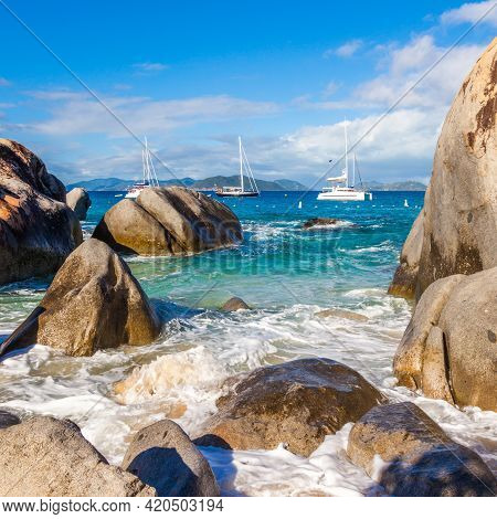 The Baths National Park In Virgin Gorda, British Virgin Islands.