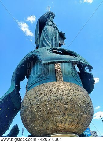 Belgrade, Serbia: May 5, 2021 - He Monument To The Grand Prince Of The Serbian Grand Principality Fr
