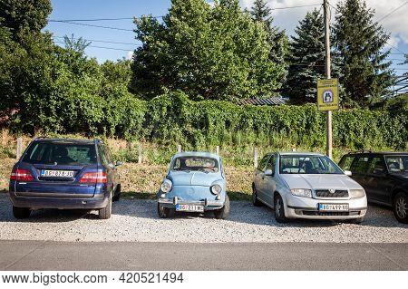 Belgrade, Serbia - June 23, 2018: Old Zastava 750, Blue Color, In Poor Condition, Parked On A Parkin