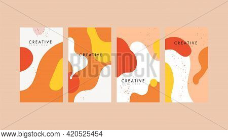 Social Media Stories Design Templates. Modern Design. Trendy Geometric Abstract Square Template For