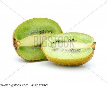 Kiwi Fruit Isolated On White. Kiwi Fruit Isolated On White.