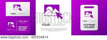 Logotype Photo Retouching Icon Isolated On White Background. Photographer, Photography, Retouch Icon